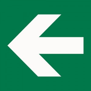 white-and-green-arrow-sign